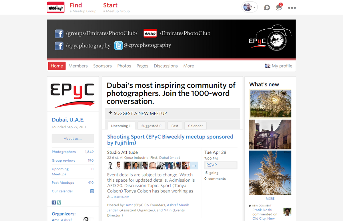 Best 3 places to hang out with photographers in Dubai - EPyC