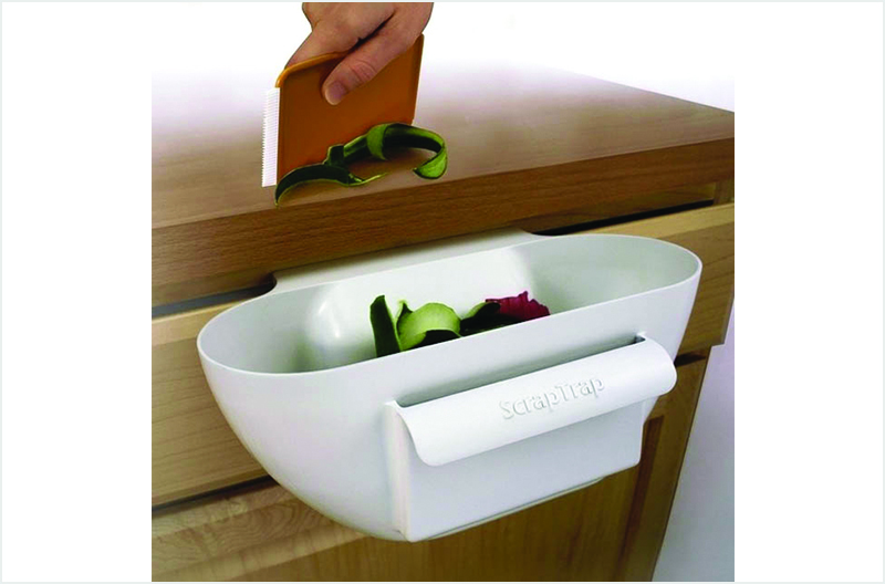 Creative Inventions You Might Need In Dubai-The Scrap Trap to keep kitchen counter tops tidy