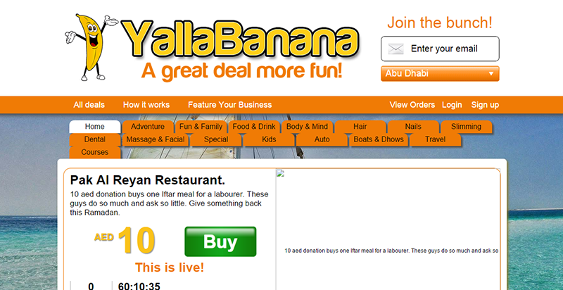 Deal Sites In Dubai-YallaBanana
