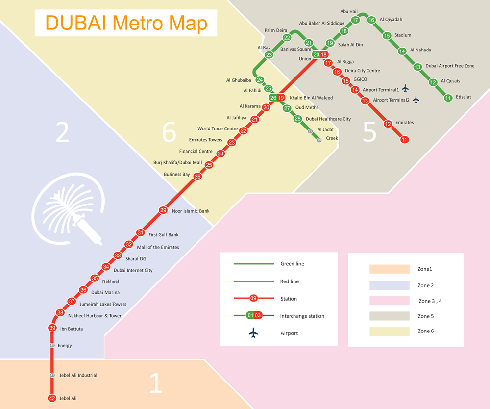 A Guide to Dubai Metro-map
